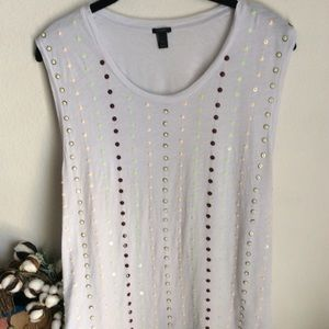 J. Crew Sleeveless Sequins and Beads Top